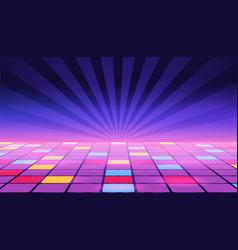 A dance floor amongst starry open space vector