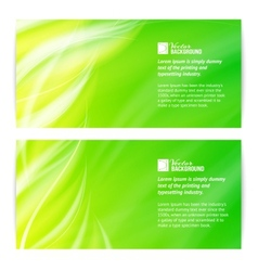 Abstract green light card vector image