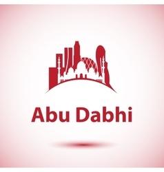 Abu dhabi skyline greatest landmarks vector