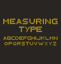 alphabet from yellow measure tape vector image
