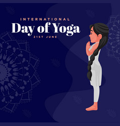 banner design of yoga day vector image