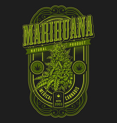 banner for legalize marijuana vector image
