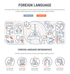 Banner foreign language vector