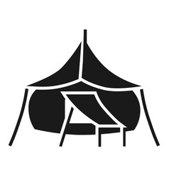 Big camp tent icon simple style vector