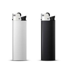 black and white disposable plastic butane lighter vector image