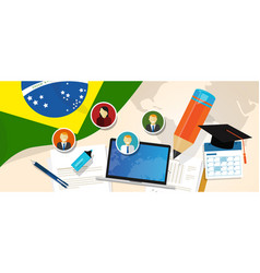 brazil education school university concept with vector image