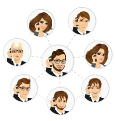 Businesspeople from around the world networking vector
