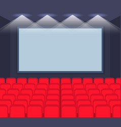 Cartoon empty template row seats movie cinema Vector Image