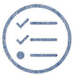 checklist fabric textured icon vector image