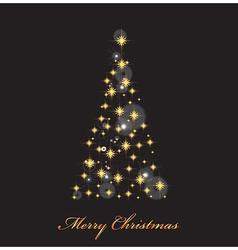 Christmas tree with lights vector