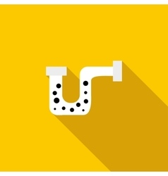 Clog in the pipe icon flat style vector
