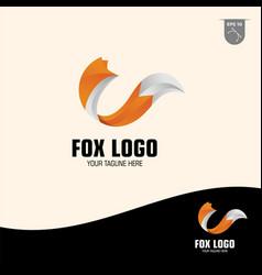 Creative fox logo design vector