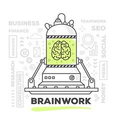 Creative professional mechanism brainw vector