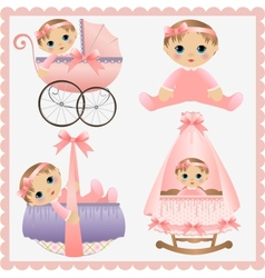 Cute collection badesign elements vector