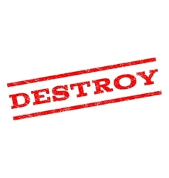 Destroy Watermark Stamp vector image
