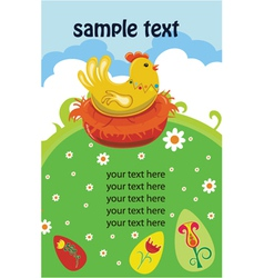 Easter background with hen vector