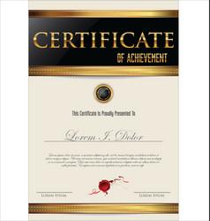 Elegant black certificate or diploma template vector