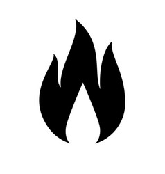 fire flame icon vector image