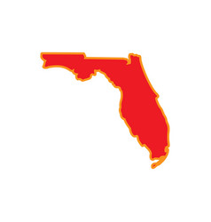 florida map design vector image