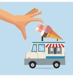 Food truck of ice cream design vector