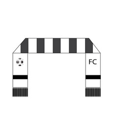 Football fans scarf icon on white background vector