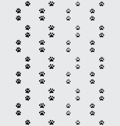 footprint paws vector image