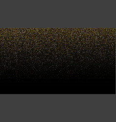 Gold glitter seamless border background vector