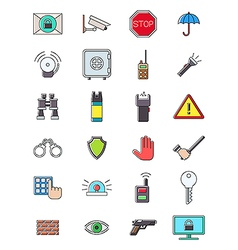Guard icons set vector image