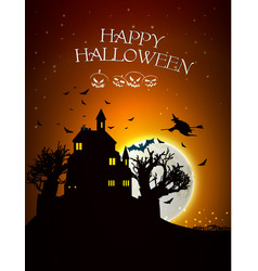 halloween design template vector image