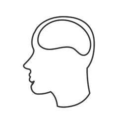 human brain in head icon vector image