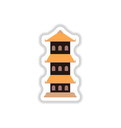 In paper sticker style vector