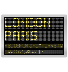 Information led board vector image