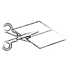 isolated scissor design vector image