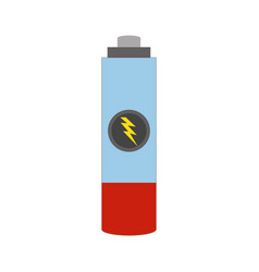 isolated small battery vector image
