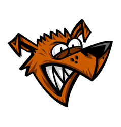 Mad crazy dog vector