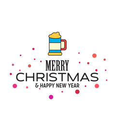 merry christmas and happy new year 2019 dotted vector image