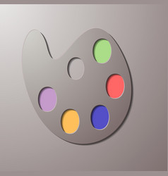 Modern art palette with eight colors vector