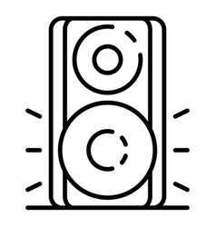 music wood speaker icon outline style vector image