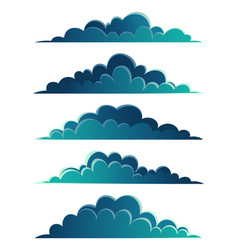 night clouds panorama collection different vector image
