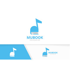 Note and book logo combination music vector