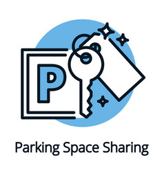 Parking space sharing for car owners share economy vector