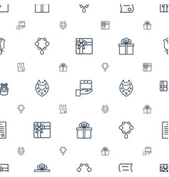 Present icons pattern seamless white background vector