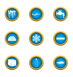 Revive icons set flat style vector