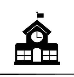 school building icon design vector image