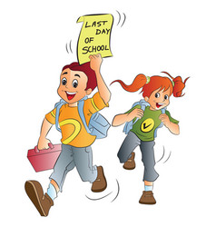 school kids vector image