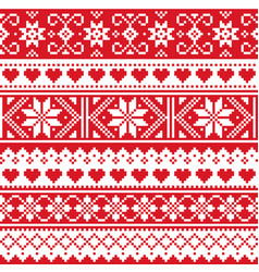 Scottish fair isle style traditional knit pattern vector