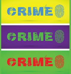 Set of crime finger prints vector