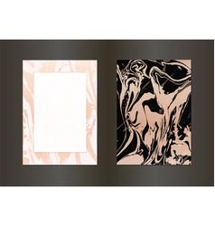 set of elegant black and gold brochure vector image