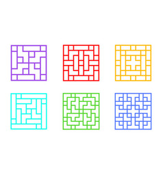 set square chinese window frame art vector image