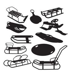sleigh vector image